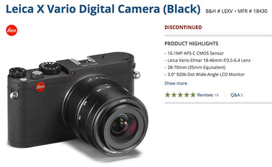 Leica-X-Vario-camera-discontinued