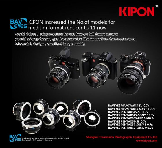 Kipon lens adapters for Leica SL and M cameras