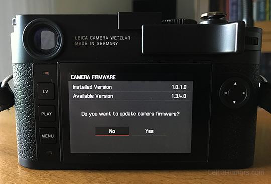 Leica M10 firmware update 1 3 4 0 released - Leica Rumors