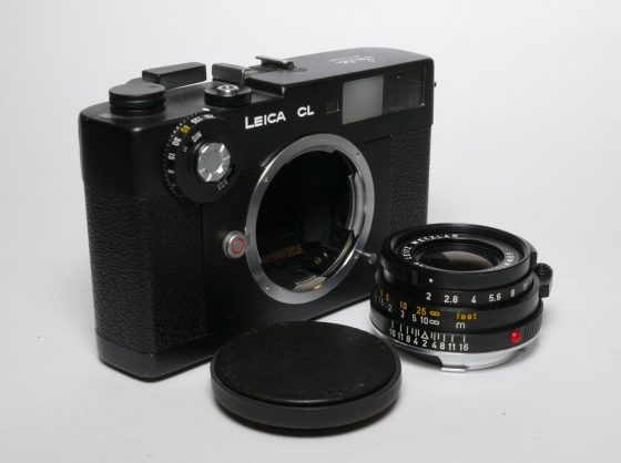 Dumb Leica CL camera and 40mm lens