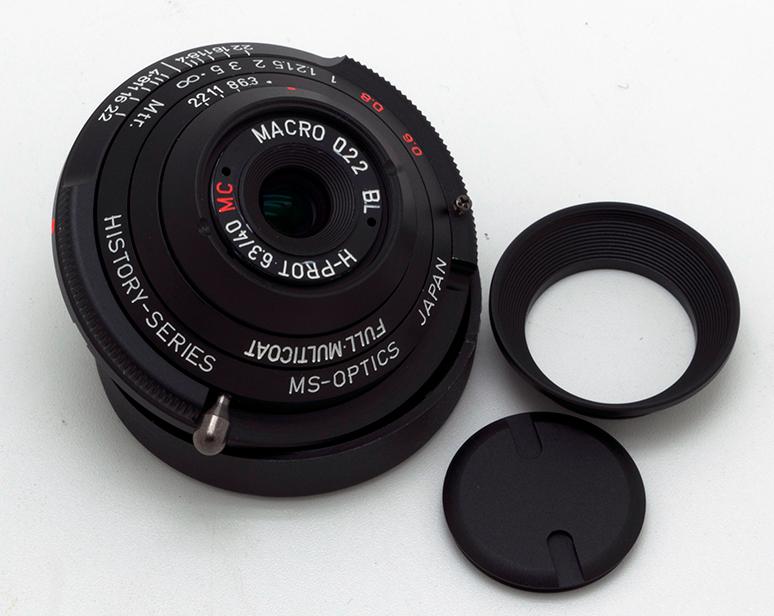 New MS-Optics Historica Prot 40mm f/6 3 lens for Leica M