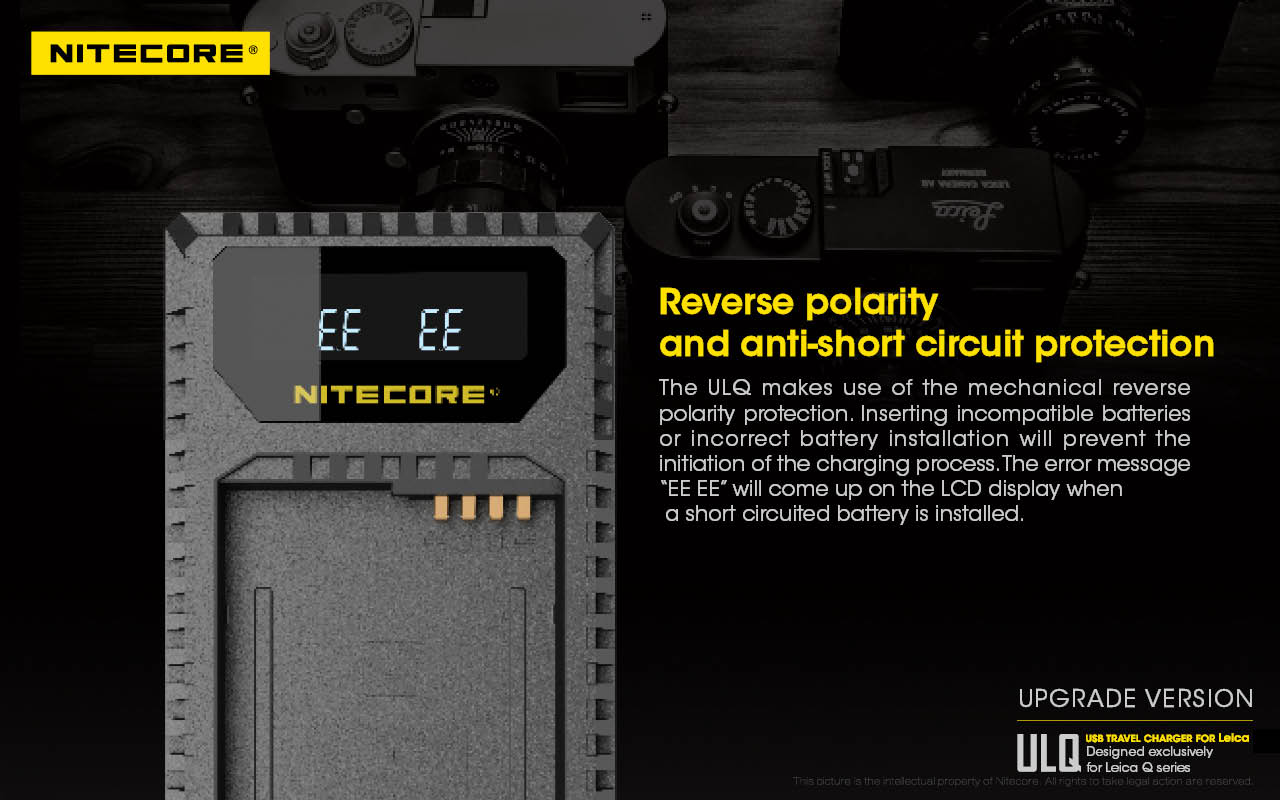 Nitecore Battery Chargers For Leica Cameras Rumors Reverse Polarity Protection Charger Additional Information Can Be Found At Nitecorecom
