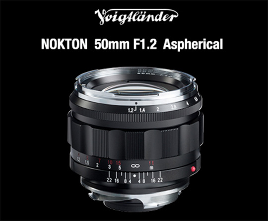 New Voigtlander NOKTON 50mm f/1.2 Aspherical VM lens for Leica M-mount announced