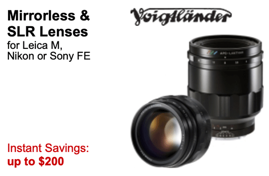 New price drop on 12 Voigtlander lenses for Leica M-mount