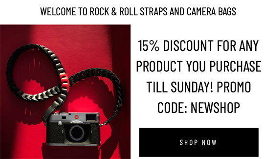 Deal of the day: 15% Rock & Roll straps