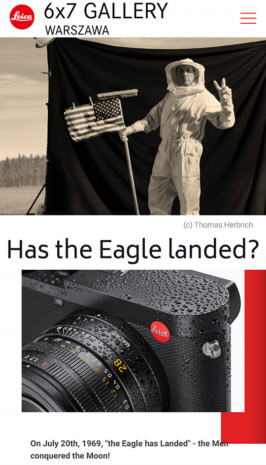 """6×7 Leica Gallery in Warsaw announced a new photography contest """"Has the Eagle landed?"""""""