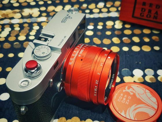 """The new 7Artisans 50mm f/1.1 red limited edition """"Red Dragon"""" lens for Leica M-mount"""