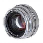 New: Voigtlander Nokton Classic 35mm f/1.4 MC VM Map Camera 25th-anniversary limited edition silver chrome lens for Leica M-mount