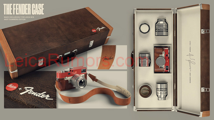 Here is one of the concepts for the Leica M Monochrom Andy Summers / Fender limited edition camera