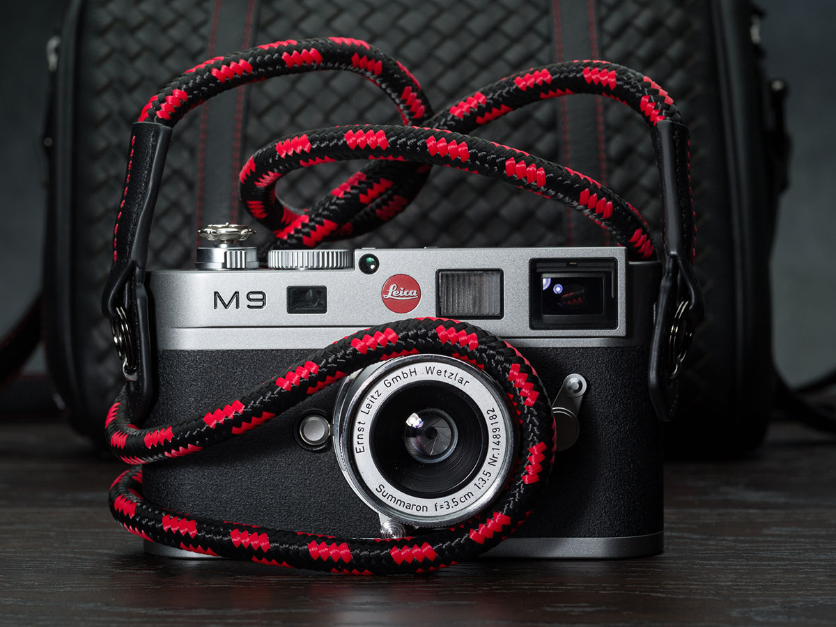 New Vi Vante camera straps: Matador Noir camera strap for Leica SL & Leica S and the new red/black CliffHanger - Leica Rumors