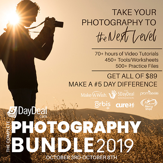 The new 2019 Complete Photography Bundle is now available: you get over $2,800 value in products for $89