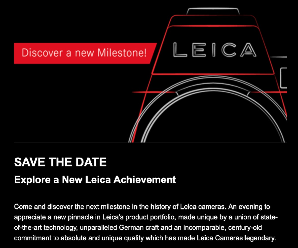"Leica USA is sending invitations to ""Explore a New Leica Achievement"" (Leica SL2) - Leica Rumors"