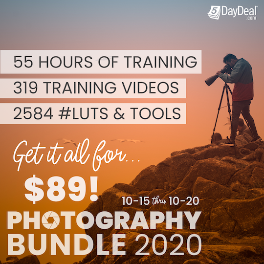 The 5DayDeal 2020 Complete Photography Bundle is now live