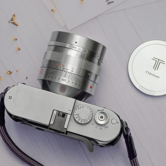 Silver TTartisan 50mm f/0.95 lens for M-mount announced