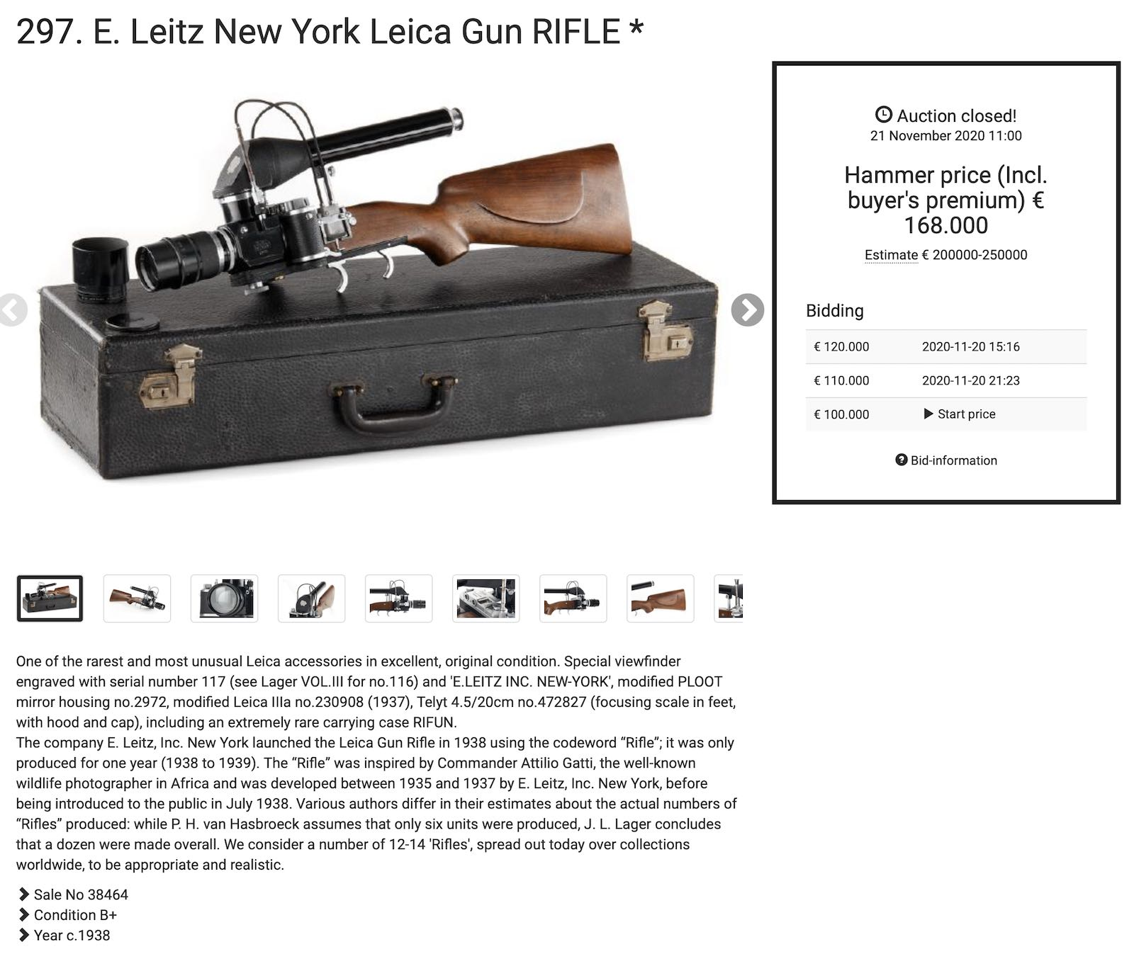 The results form the 37th Leitz Photographica Auction are out - Leica Rumors