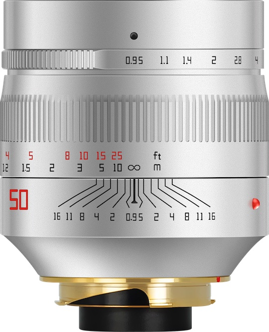 New TTartisan 50mm f/0.95 silver anodized lens for Leica M-mount announced